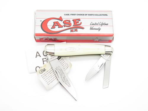 Vtg 1976 Case XX NKCA 3380 White Delrin Folding Whittler Pocket Knife