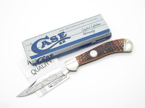 1991 Case XX NKCA 61100 Saddlehorn Jigged Brown Bone Folding Hunter Pocket Knife