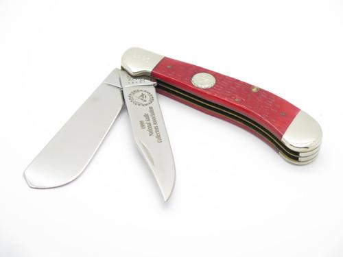 1999 Case XX NKCA 62100 Saddlehorn Red Bone Trapper Folding Hunter Pocket Knife