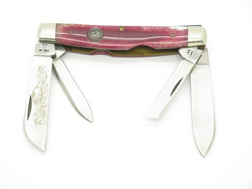 Vtg 1981 Case XX NKCA 6488 Congress Museum Dedication Red Folding Pocket Knife
