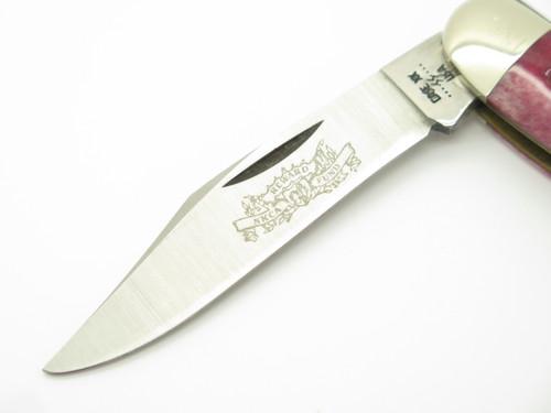 Vtg 1982 Case XX NKCA Reward Fund 6380 Red Bone Folding Whittler Pocket Knife
