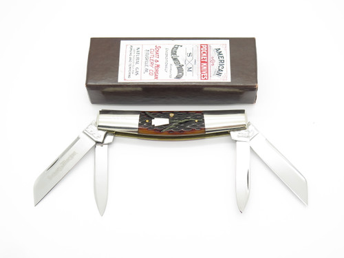 2005 Schatt & Morgan Queen Nkca Red Bone Large Congress Folding Pocket Knife