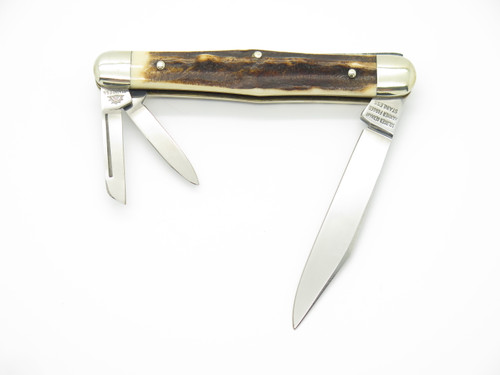 1996 C. SCHLIEPER 0344 SOLINGEN GERMANY NKCA STAG WHITTLER FOLDING POCKET KNIFE