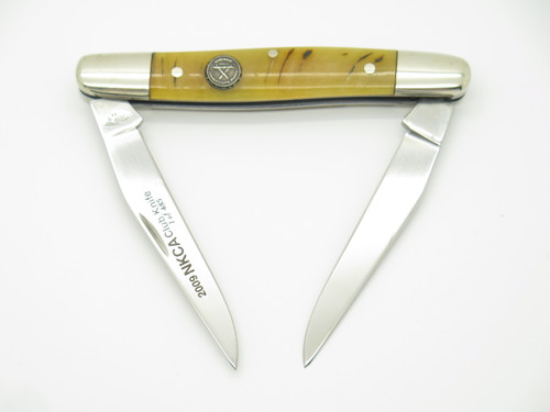 2009 NKCA CANAL STREET CUTLERY USA RAM HORN MUSKRAT FOLDING POCKET KNIFE