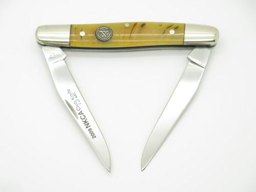 2009 NKCA Canal Street Cutlery USA Ram Horn Muskrat Folding Pocket Knife