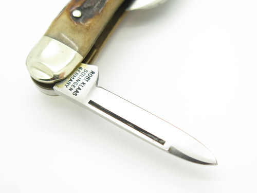 1980 Robt Klaas Kissing Crane 04056 NKCA Stag Folding Stockman Pocket Knife