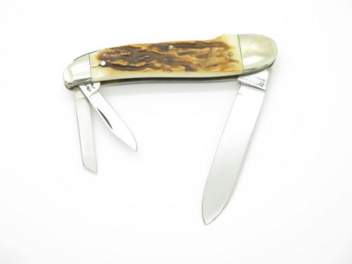 1980 Robt Klaas Kissing Crane 152l NKCA Stag Folding Whittler Pocket Knife