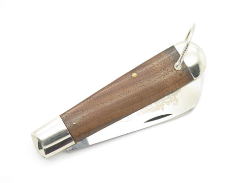 Vtg 1980 Case XX 1199 Whaler Train Etch Folding Pocket Knife