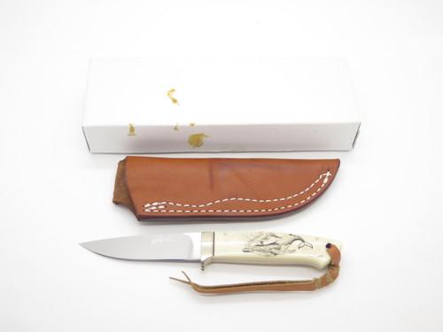 Seizo Imai Seki Japan Custom Whale Scrimshaw ATS-34 Loveless Fixed Hunting Knife