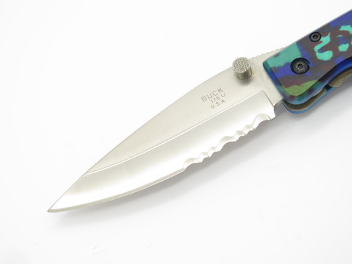1998 Buck USA 175 Lightning Large Multi Color Folding Linerlock Pocket Knife