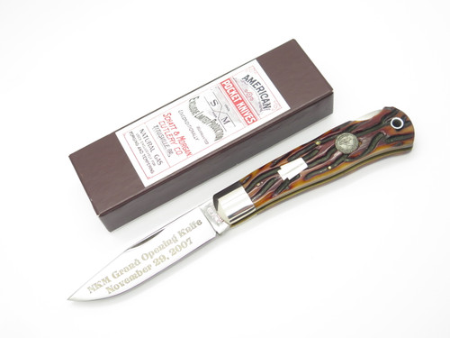 2007 SCHATT & MORGAN QUEEN NKCA NKM JIGGED BONE FOLDING LOCKBACK POCKET KNIFE