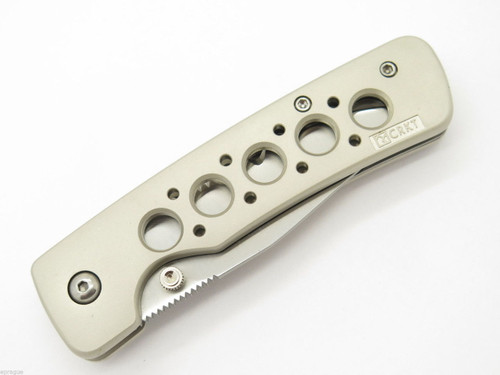 COLUMBIA RIVER CRKT 6612 DOOLITTLE LINERLOCK SERRATED FOLDING POCKET KNIFE
