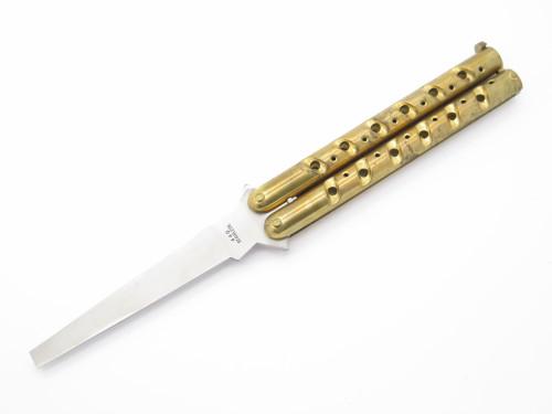 "Vintage 1980s HR Seki Japan 5"" Folding Practice Balisong Butterfly Knife"