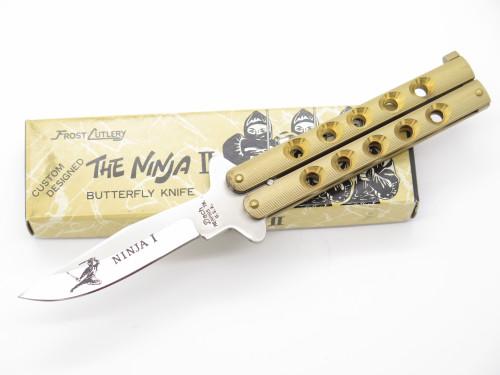 "Vintage 1980s Seizo Imai Frost Dach Seki Japan 4"" The Ninja I Folding Balisong Butterfly Knife"