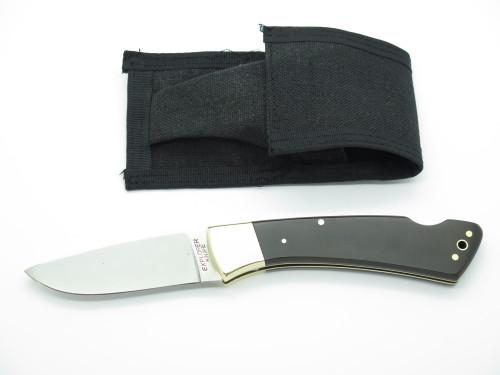 Vtg 1980s Herbertz German Rostfrei Explorer Large Folding Hunter Lockback Knife