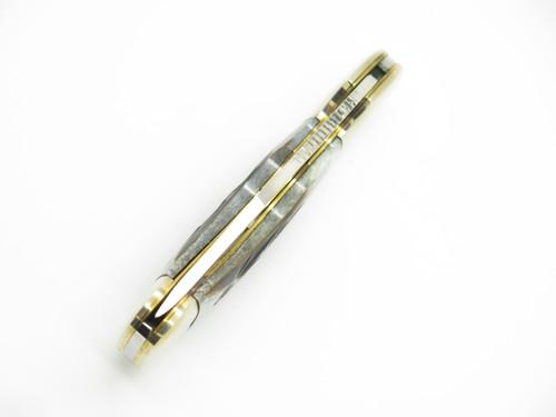 Vtg Frost Seizo Imai Seki Japan Peacemaker BL Bone Folding Lockback Pocket Knife