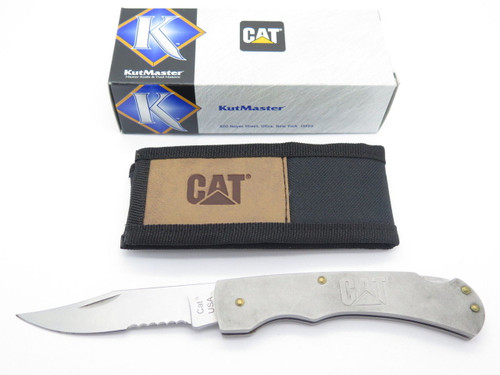 KUTMASTER CAT CATERPILLAR 11-C18101CP STAINLESS FOLDING HUNTER LOCKBACK KNIFE
