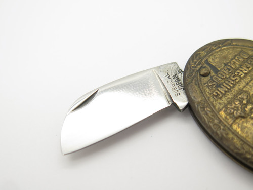 Vtg '70s Coca-cola Keychain Seizo Imai Seki Japan Gentleman Folding Pocket Knife