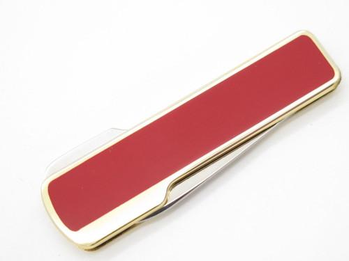 Vintage Kai Cut Seki Japan Red Gentleman Folding Lockback Pocket Knife