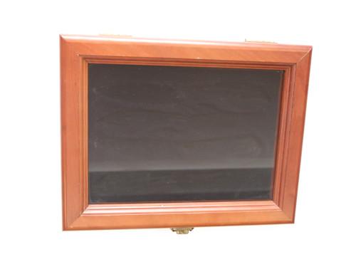 Shepherd Hills Case XX Glass Top Wood Fixed Folding Hunter Knife Display Box