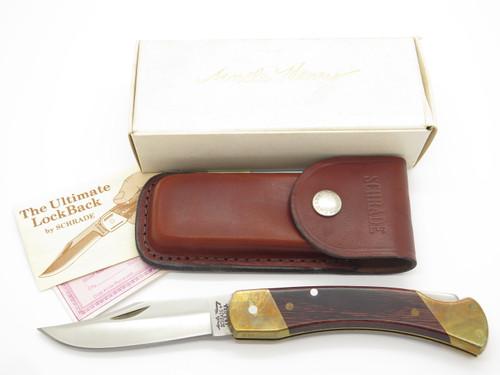 Vintage Schrade USA Uncle Henry LB7 Bear Paw Folding Hunter Lockback Knife