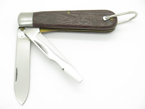 Vtg '80s Klein Tools USA Tl-29 Electrician Lineman Folding Military Tool Knife