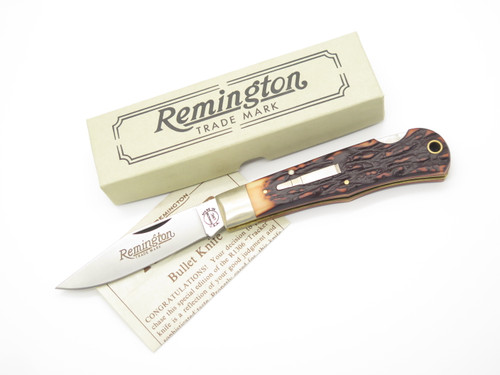 NOS 1990 REMINGTON UMC USA R1306 BULLET TRAPPER LOCKBACK FOLDING POCKET KNIFE