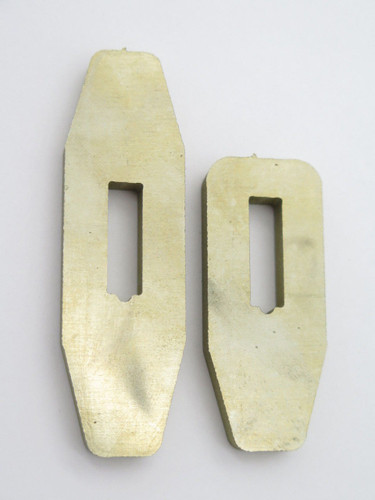 """USA Nickel Silver Fixed Blade Knife Making Guard Part 1/4"""" Blade in 2 Sizes"""