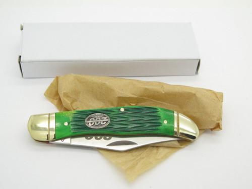 REMINGTON SHORT FOLDING HUNTER POCKET KNIFE GREEN BONE 200th ANNIVERSARY LE