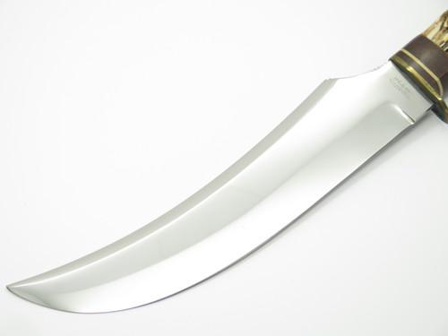 "Vtg Olsen Knife CO. 2700-8"" Buf Solingen Germany Stag Fixed Blade Hunting Knife"