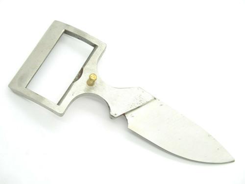 Vintage 1970s Valor 1387 Tak Fukuta Seki Japan Fixed Blade Belt Buckle Knife, Bowen Collins Brothers Design