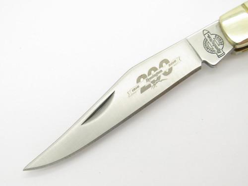 REMINGTON MUSKRAT FOLDING POCKET KNIFE GREEN BONE 200th ANNIVERSARY LIMITED