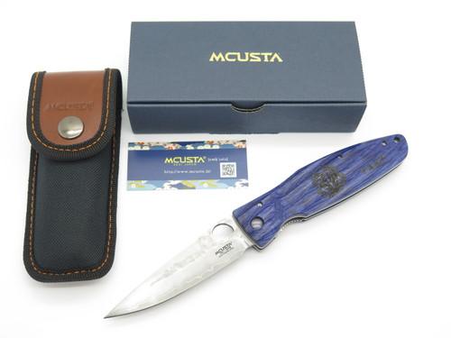 Mcusta Seki Japan MC-186G Masamune Blue & SPG2 San Mai Folding Hunter Knife
