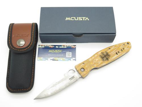 Mcusta Seki Japan MC-182G Nobunaga Yellow & SPG2 San Mai Folding Hunter Knife