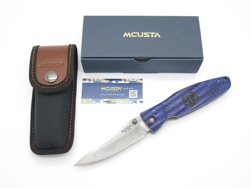 Mcusta Seki Japan MC-186D Masamune Blue & VG-10 Damascus Folding Hunter Knife