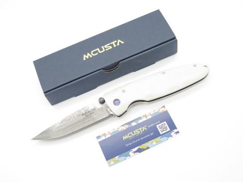 MCUSTA SEKI JAPAN MC-0019D CLASSIC WAVE CORIAN DAMASCUS FOLDING POCKET KNIFE