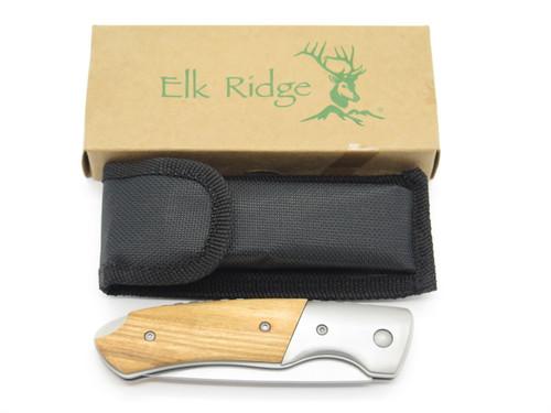 ELK RIDGE ER-166 STAINLESS STEEL MEDIUM FOLDING LOCKBACK POCKET KNIFE