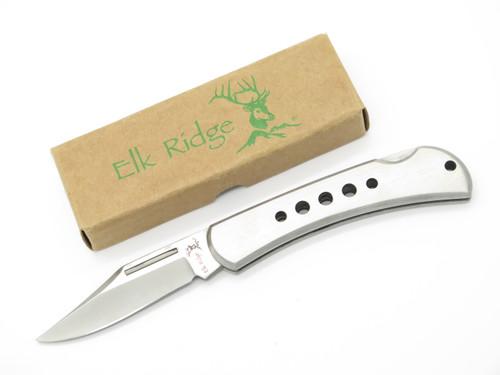 """Elk Ridge ER-124S Stainless Steel 4.5"""" Folding Lockback Pocket Knife"""