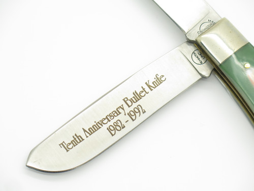 1982-1992 Remington USA R1123 10th Anniversary Bullet Trapper Folding Knife Tin
