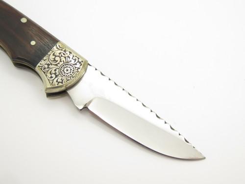 """Vtg Parker Seizo Imai Seki Japan Sample Etched 3.5"""" Folding Lockback Knife"""