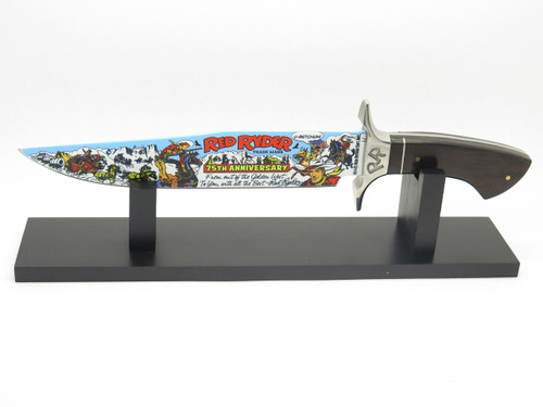 Red Ryder RR3 75th Anniversary Fixed Blade Knife & Display BB Gun Comic Scout