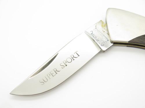 Vtg Valor Super Sport Seizo Imai Seki Japan Wood Stainless Folding Pocket Knife