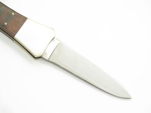 Vtg 1980s Haller German Rostfrei Stainless Folding Dagger Lockback Pocket Knife