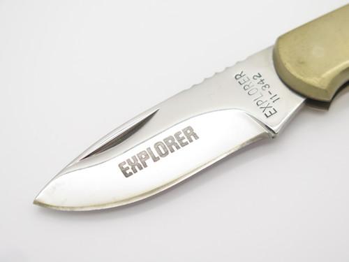 """Vtg Explorer Seizo Imai Seki Japan 3.5"""" Magnum Folding Lockback Pocket Knife"""