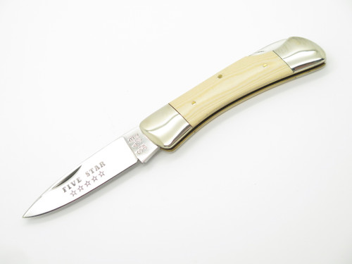 Vtg Joy Five Star Umetaro Seki Japan Micarta Folding Lockback Pocket Knife 2nd