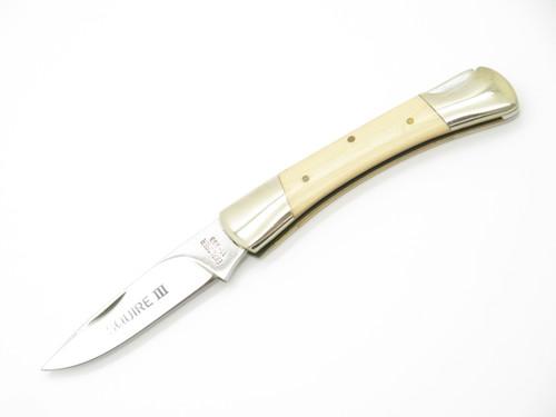 VTG EXPLORER SQUIRE III SEIZO IMAI SEKI JAPAN WHT MICARTA FOLDING LOCKBACK KNIFE