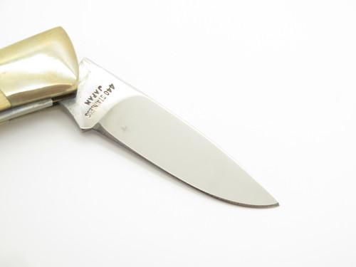 Vtg Explorer Squire Seizo Imai Seki Japan Micarta Scissors Folding Pocket Knife