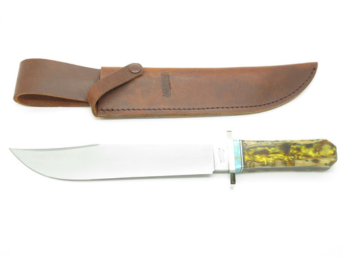 Custom RRR Leroy Remer Marbles Trailmaker Coffin Choya Cactus Fixed Bowie Knife
