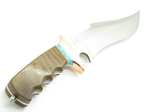 RRR Sub Hilt Micarta Fixed Bowie Knife R5 by 1st Buck Custom Maker Leroy Remer
