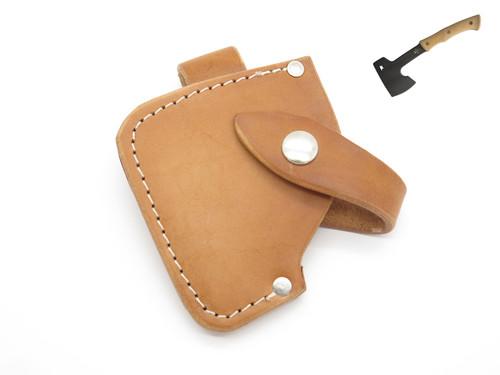 "Custom USA 3.125"" Blade Leather Camp Axe Hatchet Camping Fixed Knife Sheath"
